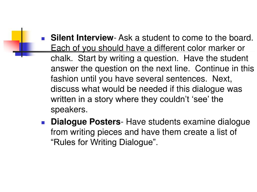 Silent Interview