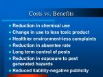 costs vs benefits25