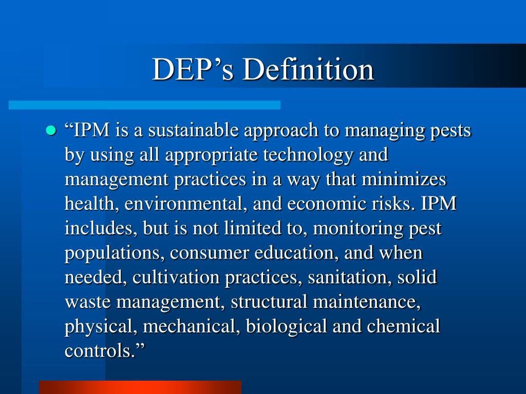 DEP's Definition