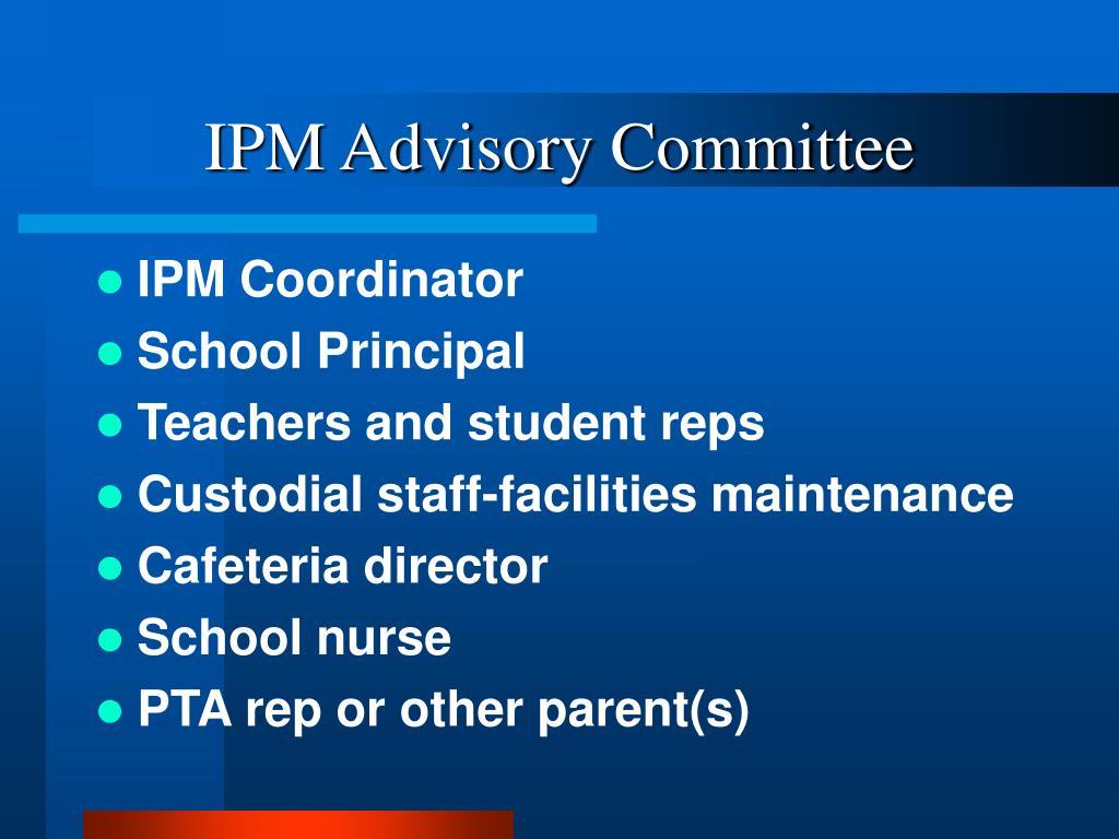 IPM Advisory Committee