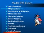 model ipm policy