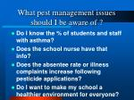 what pest management issues should i be aware of13