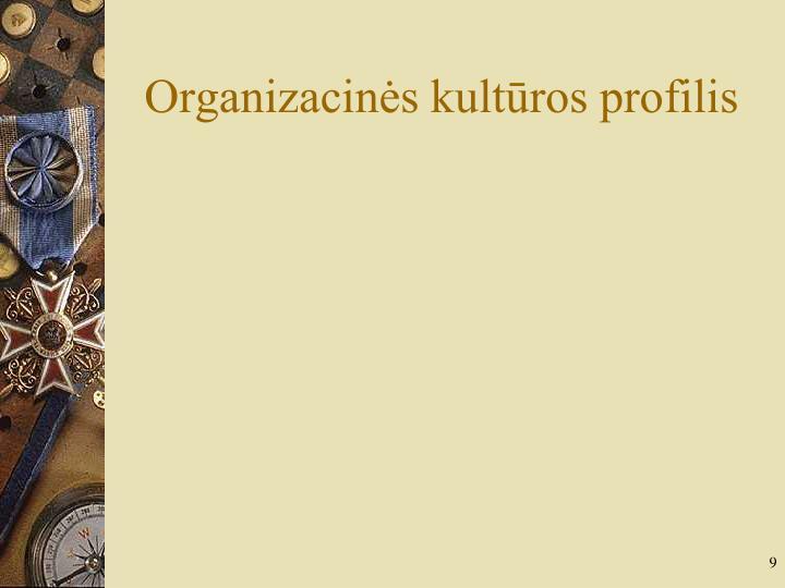 Organizacinės kultūros profilis