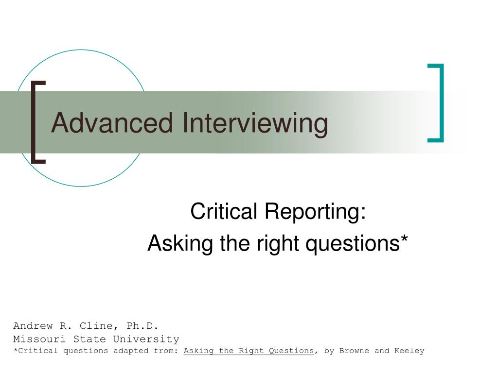advanced interviewing l.
