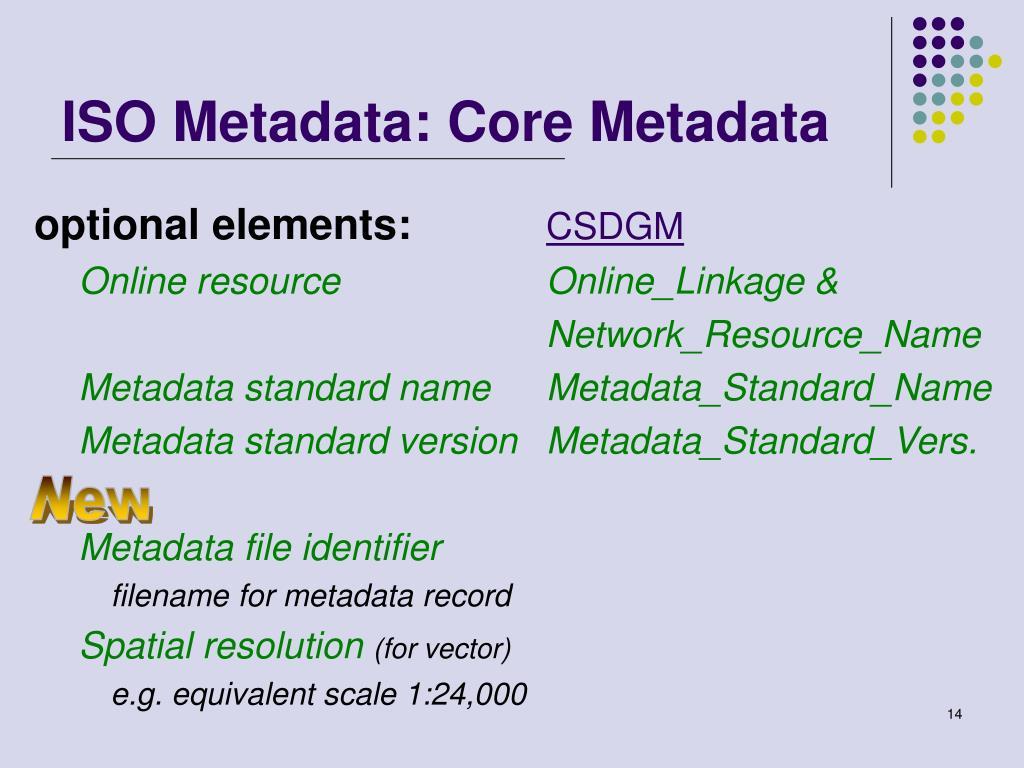 ISO Metadata: Core Metadata