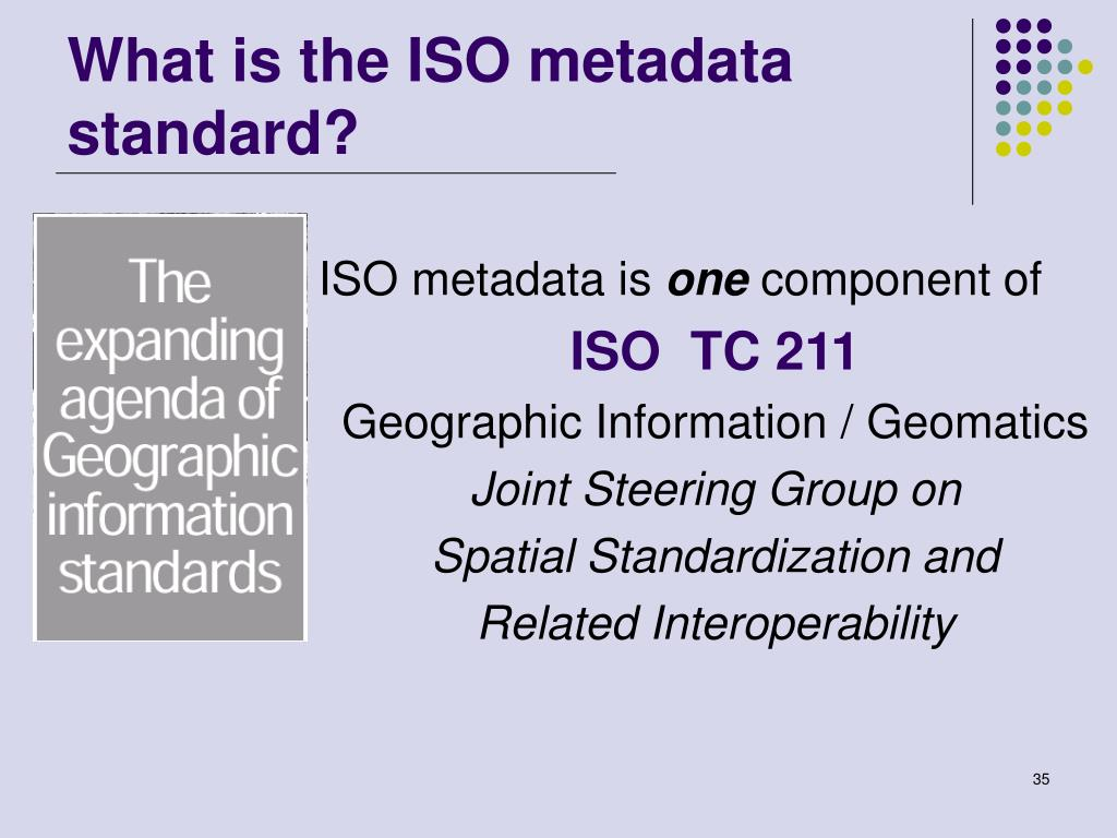 What is the ISO metadata standard?