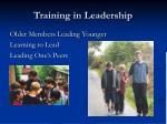 training in leadership