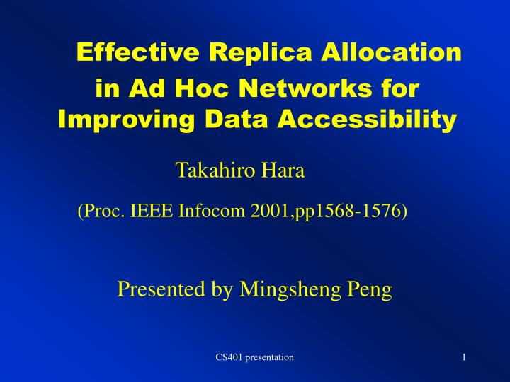 efficient resource allocation for adhoc networks Although mobile wimax as well as mobile ad hoc network provides a flexible way to allocate frequency resources making dca between bss possible, dca won't be used at least in the early stages of.