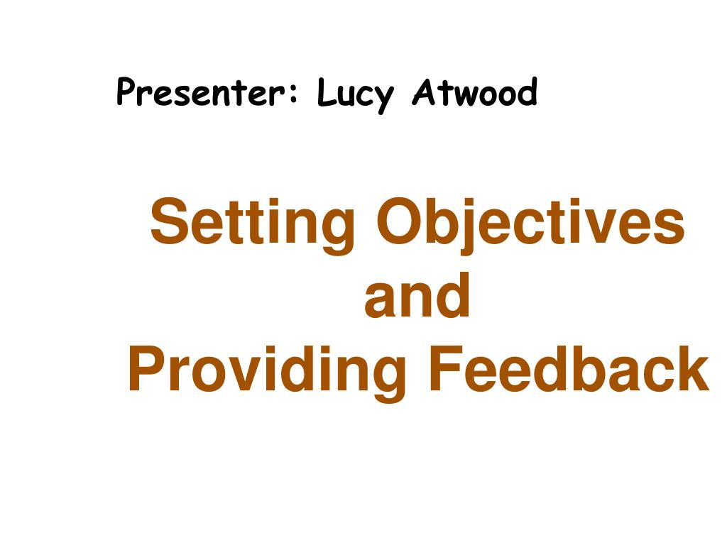 Presenter: Lucy Atwood