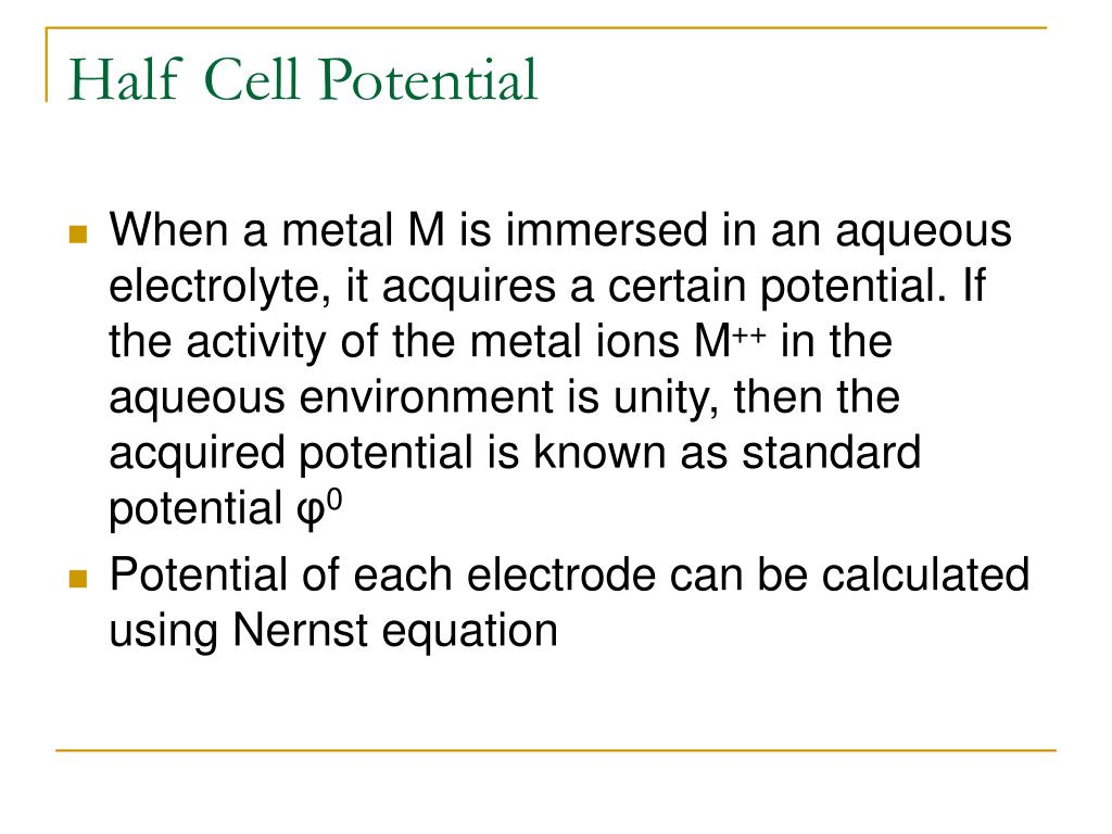 Half Cell Potential