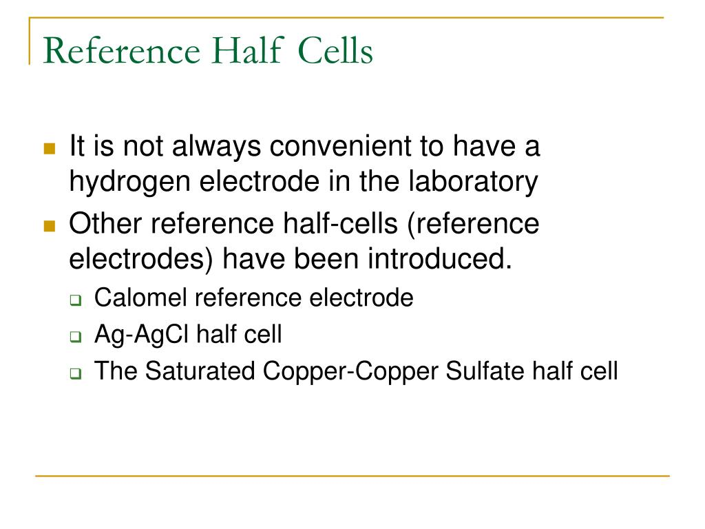 Reference Half Cells
