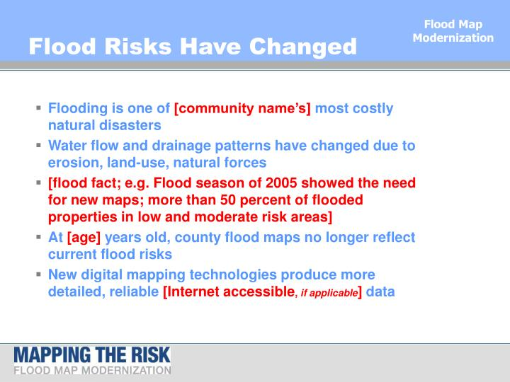 Flood risks have changed