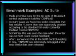benchmark examples ac suite