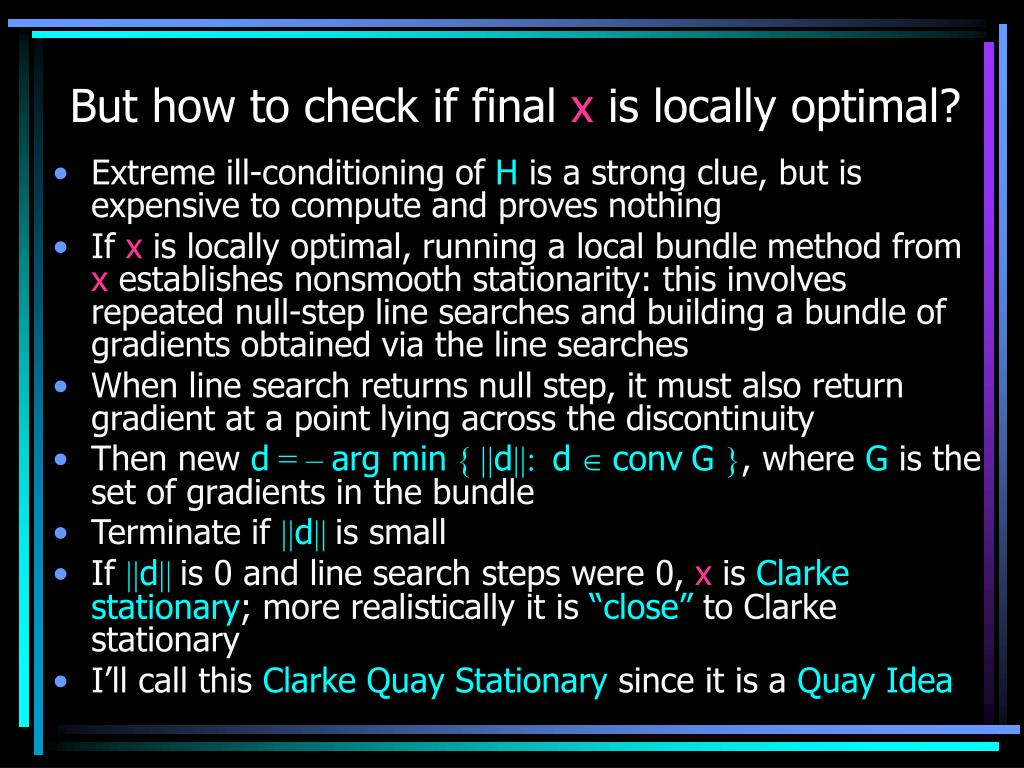 But how to check if final
