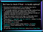 but how to check if final x is locally optimal