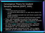 convergence theory for gradient sampling method siopt 2005