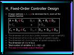 h fixed order controller design32