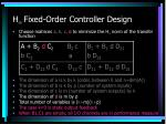 h fixed order controller design33