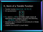 h norm of a transfer function