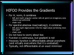 hifoo provides the gradients