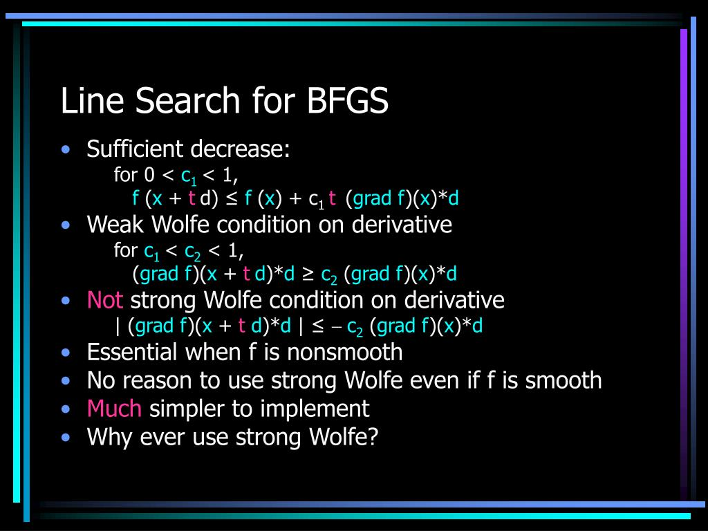 Line Search for BFGS