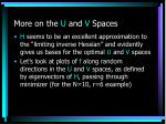 more on the u and v spaces
