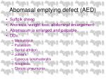abomasal emptying defect aed