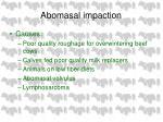 abomasal impaction