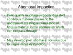 abomasal impaction66