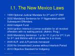 i 1 the new mexico laws
