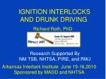 ignition interlocks and drunk driving