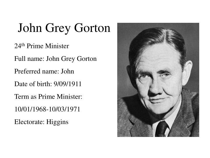 John Grey Gorton
