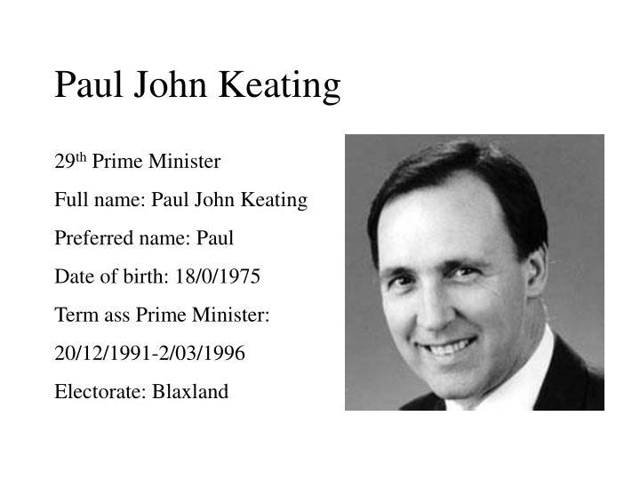 Paul John Keating