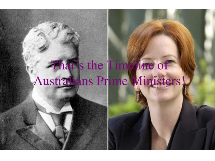 That's the Timeline of Australians Prime Ministers!