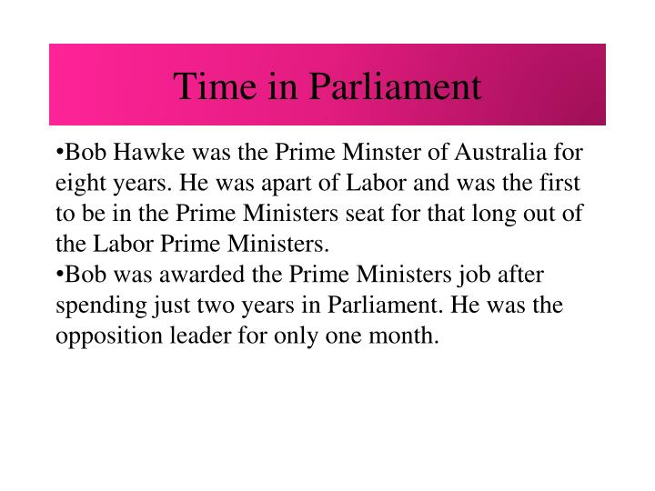 Time in Parliament