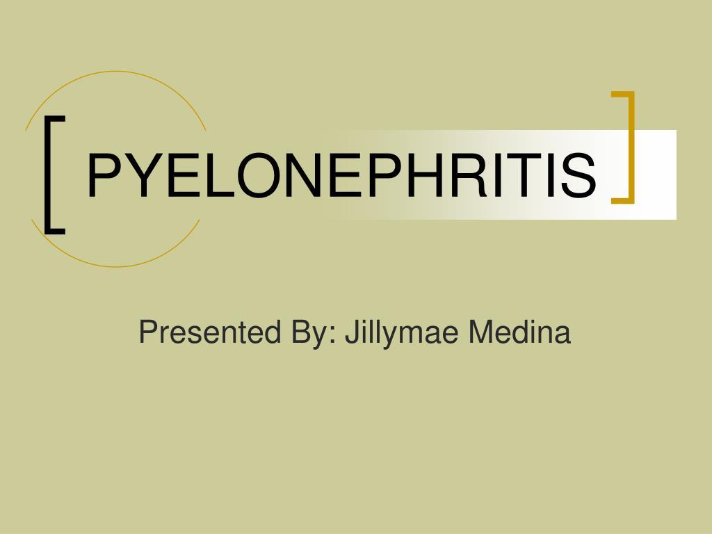 pyelonephritis l.