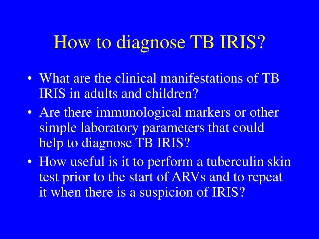 How to diagnose TB IRIS?