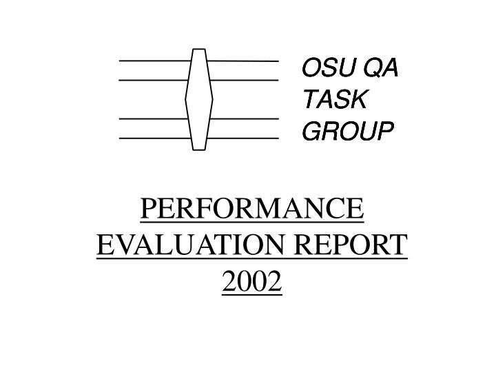 Performance evaluation report 2002
