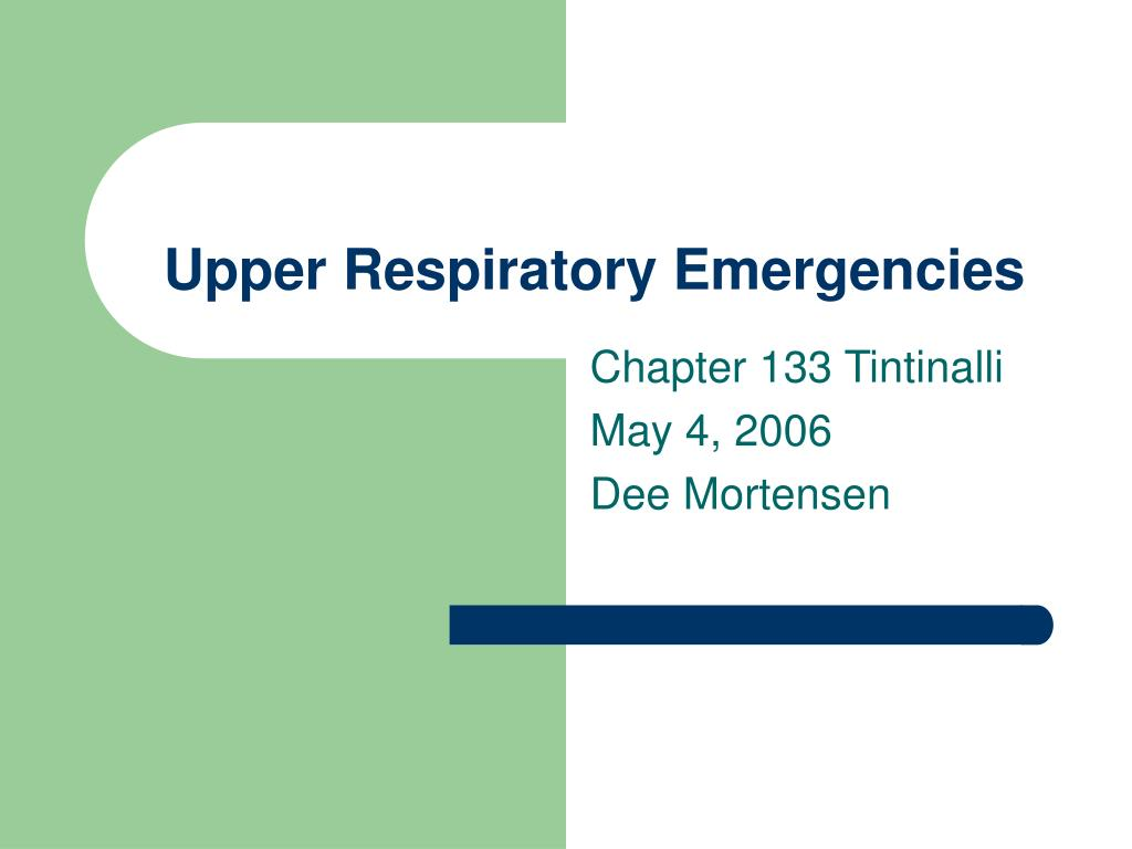 upper respiratory emergencies l.