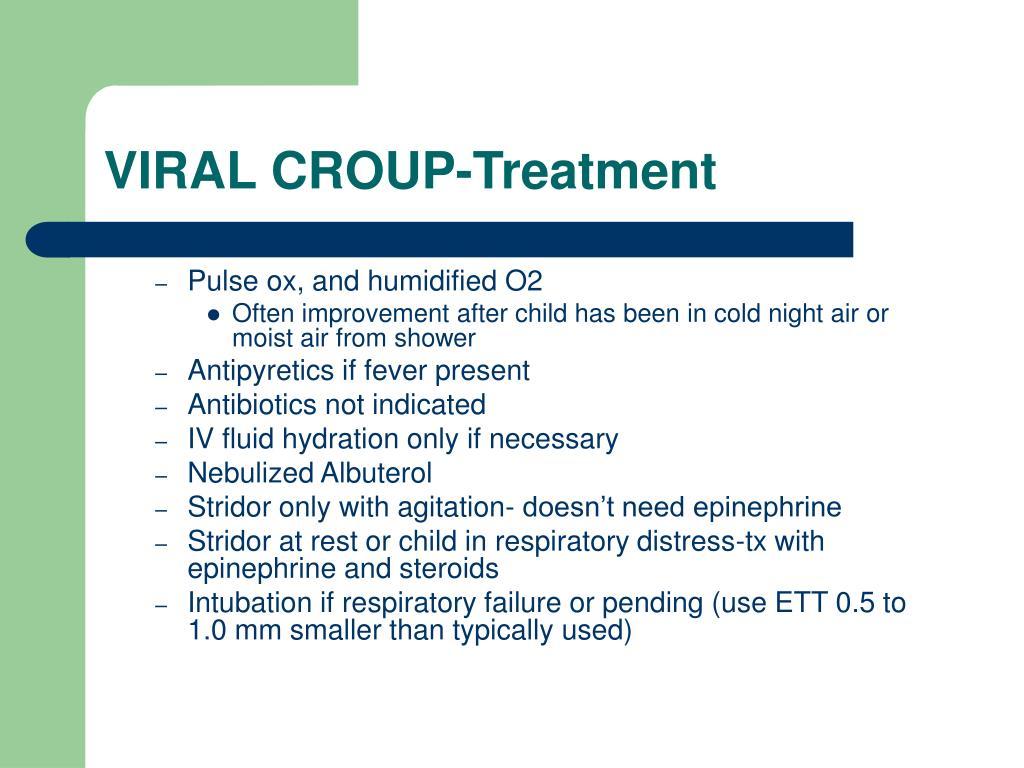 VIRAL CROUP-Treatment