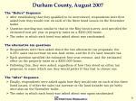 durham county august 200726