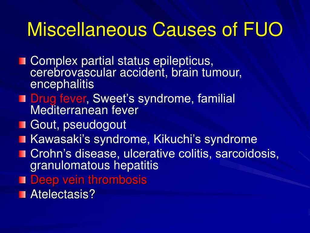 Miscellaneous Causes of FUO