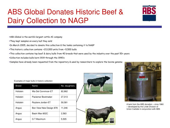Abs global donates historic beef dairy collection to nagp