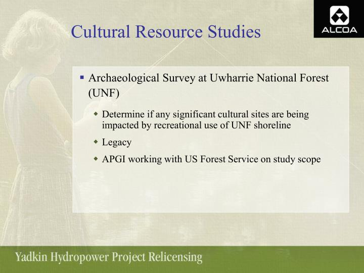 Cultural Resource Studies