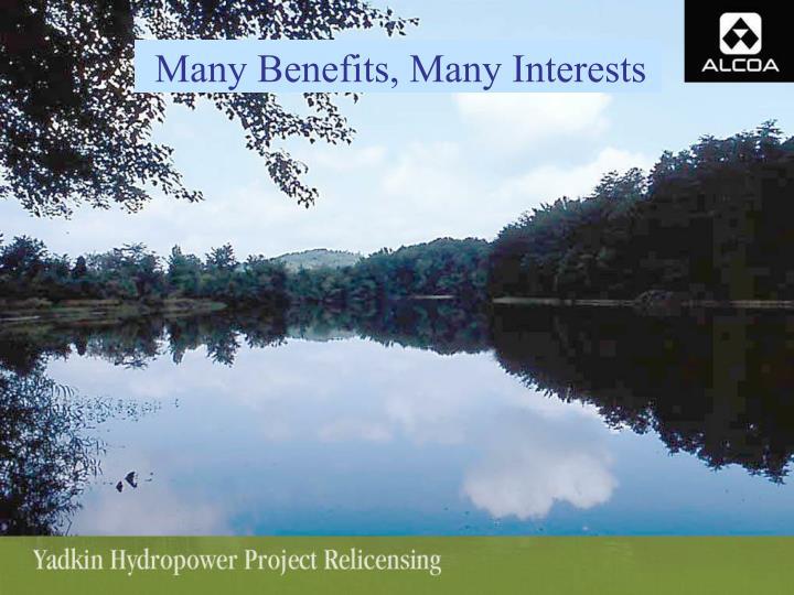 Many Benefits, Many Interests