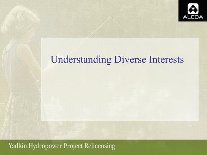 Understanding Diverse Interests