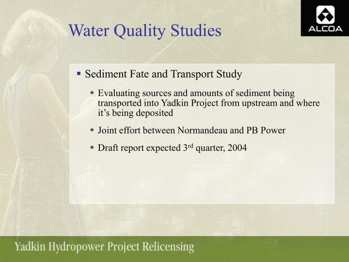 Water Quality Studies