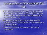 antidegradation demonstration for tss