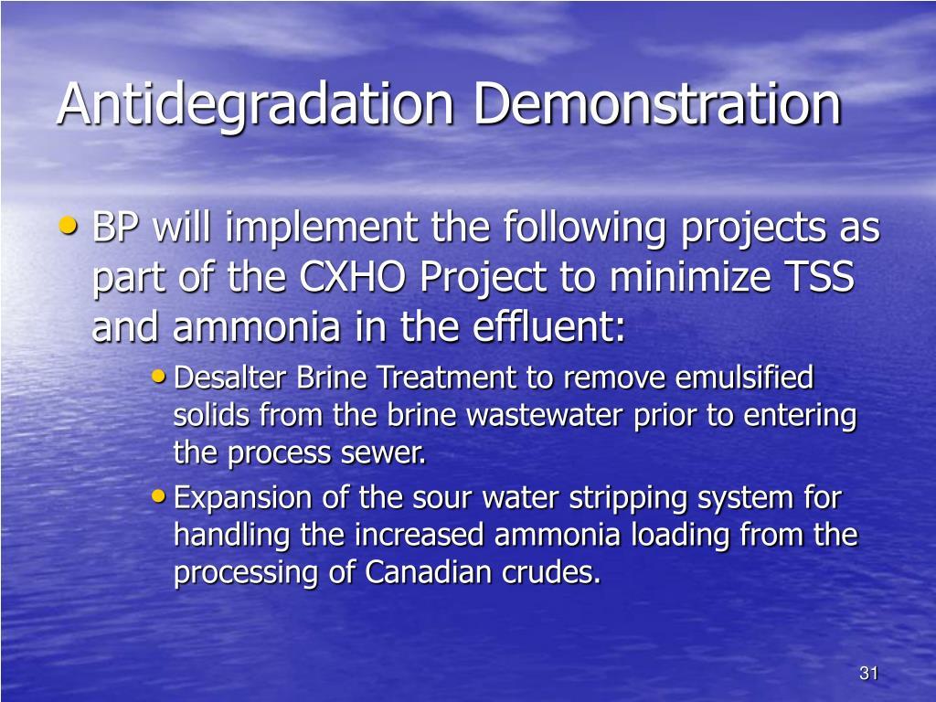 Antidegradation Demonstration