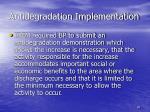 antidegradation implementation